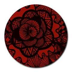 Background Abstract Red Black Round Mousepads by Celenk