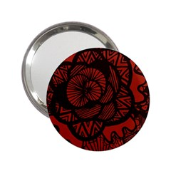 Background Abstract Red Black 2 25  Handbag Mirrors