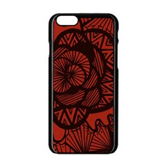 Background Abstract Red Black Apple Iphone 6/6s Black Enamel Case by Celenk