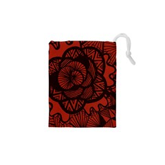 Background Abstract Red Black Drawstring Pouches (xs)  by Celenk