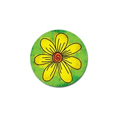 Flower Cartoon Painting Painted Golf Ball Marker (4 Pack)