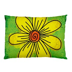 Flower Cartoon Painting Painted Pillow Case