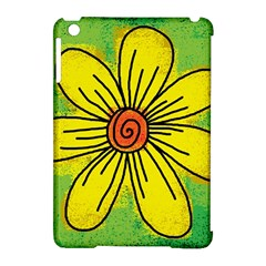 Flower Cartoon Painting Painted Apple Ipad Mini Hardshell Case (compatible With Smart Cover) by Celenk