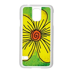 Flower Cartoon Painting Painted Samsung Galaxy S5 Case (white)