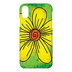 Flower Cartoon Painting Painted Apple Iphone X Hardshell Case