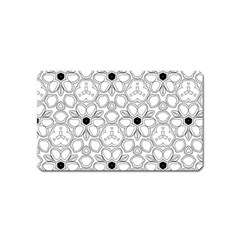 Pattern Zentangle Handdrawn Design Magnet (name Card) by Celenk