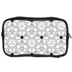 Pattern Zentangle Handdrawn Design Toiletries Bags 2 Side by Celenk