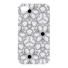 Pattern Zentangle Handdrawn Design Apple Iphone 4/4s Premium Hardshell Case by Celenk