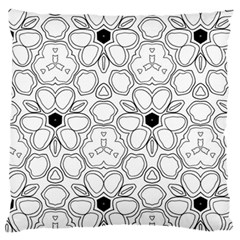 Pattern Zentangle Handdrawn Design Large Cushion Case (two Sides)