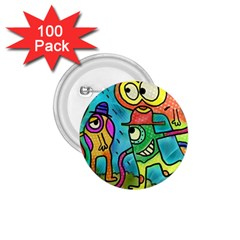 Painting Painted Ink Cartoon 1 75  Buttons (100 Pack)  by Celenk