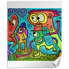 Painting Painted Ink Cartoon Canvas 11  X 14