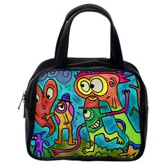 Painting Painted Ink Cartoon Classic Handbags (one Side) by Celenk