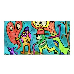 Painting Painted Ink Cartoon Satin Wrap