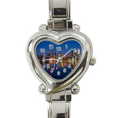 Buildings Can Cn Tower Canada Heart Italian Charm Watch by Celenk