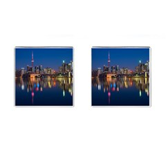 Buildings Can Cn Tower Canada Cufflinks (square) by Celenk