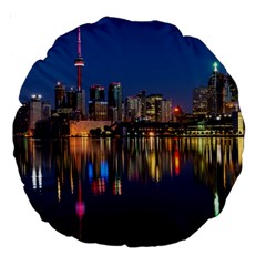 Buildings Can Cn Tower Canada Large 18  Premium Round Cushions by Celenk