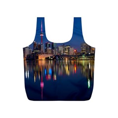 Buildings Can Cn Tower Canada Full Print Recycle Bags (s)  by Celenk