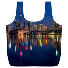 Buildings Can Cn Tower Canada Full Print Recycle Bags (l)  by Celenk