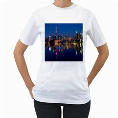 Buildings Can Cn Tower Canada Women s T Shirt (white)  by Celenk
