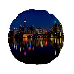 Buildings Can Cn Tower Canada Standard 15  Premium Flano Round Cushions by Celenk
