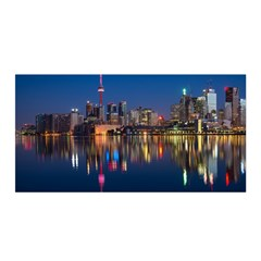 Buildings Can Cn Tower Canada Satin Wrap by Celenk