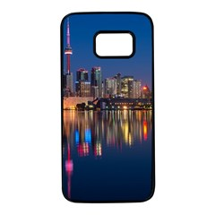 Buildings Can Cn Tower Canada Samsung Galaxy S7 Black Seamless Case by Celenk