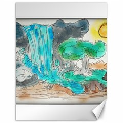 Doodle Sketch Drawing Landscape Canvas 12  X 16   by Celenk