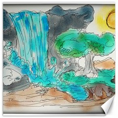 Doodle Sketch Drawing Landscape Canvas 16  X 16   by Celenk