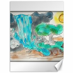 Doodle Sketch Drawing Landscape Canvas 36  X 48   by Celenk