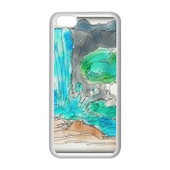 Doodle Sketch Drawing Landscape Apple Iphone 5c Seamless Case (white)