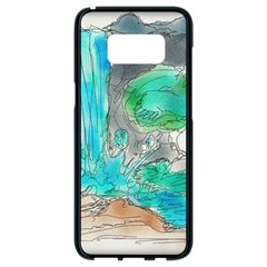 Doodle Sketch Drawing Landscape Samsung Galaxy S8 Black Seamless Case