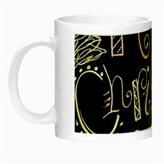 Chalk Chalkboard Board Frame Night Luminous Mugs by Celenk