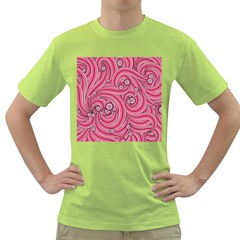 Pattern Doodle Design Drawing Green T-shirt by Celenk