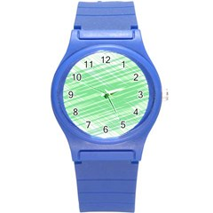 Dirty Dirt Structure Texture Round Plastic Sport Watch (s)