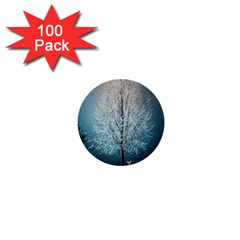 Winter Wintry Snow Snow Landscape 1  Mini Buttons (100 Pack)  by Celenk