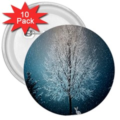 Winter Wintry Snow Snow Landscape 3  Buttons (10 Pack)  by Celenk
