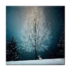 Winter Wintry Snow Snow Landscape Face Towel by Celenk