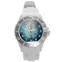 Winter Wintry Snow Snow Landscape Round Plastic Sport Watch (l) by Celenk