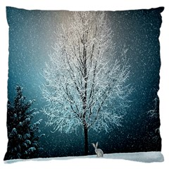 Winter Wintry Snow Snow Landscape Large Cushion Case (one Side) by Celenk