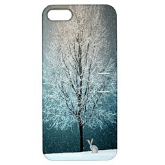 Winter Wintry Snow Snow Landscape Apple Iphone 5 Hardshell Case With Stand by Celenk