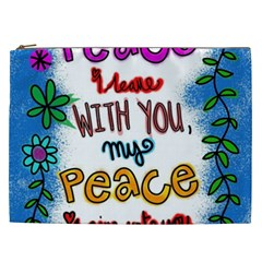 Christian Christianity Religion Cosmetic Bag (xxl)  by Celenk