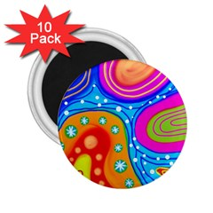 Abstract Pattern Painting Shapes 2 25  Magnets (10 Pack)  by Celenk