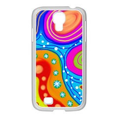 Abstract Pattern Painting Shapes Samsung Galaxy S4 I9500/ I9505 Case (white) by Celenk