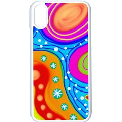 Abstract Pattern Painting Shapes Apple Iphone X Seamless Case (white)