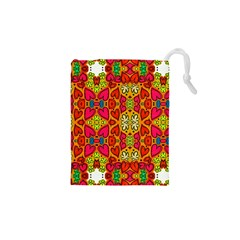 Abstract Background Pattern Doodle Drawstring Pouches (xs)