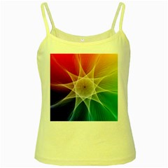 Abstract Star Pattern Structure Yellow Spaghetti Tank