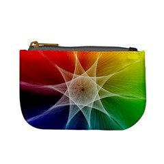 Abstract Star Pattern Structure Mini Coin Purses by Celenk