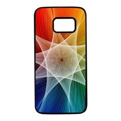 Abstract Star Pattern Structure Samsung Galaxy S7 Black Seamless Case by Celenk
