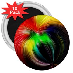 Circle Lines Wave Star Abstract 3  Magnets (10 Pack)