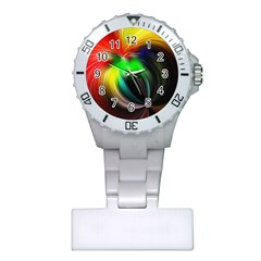 Circle Lines Wave Star Abstract Plastic Nurses Watch by Celenk